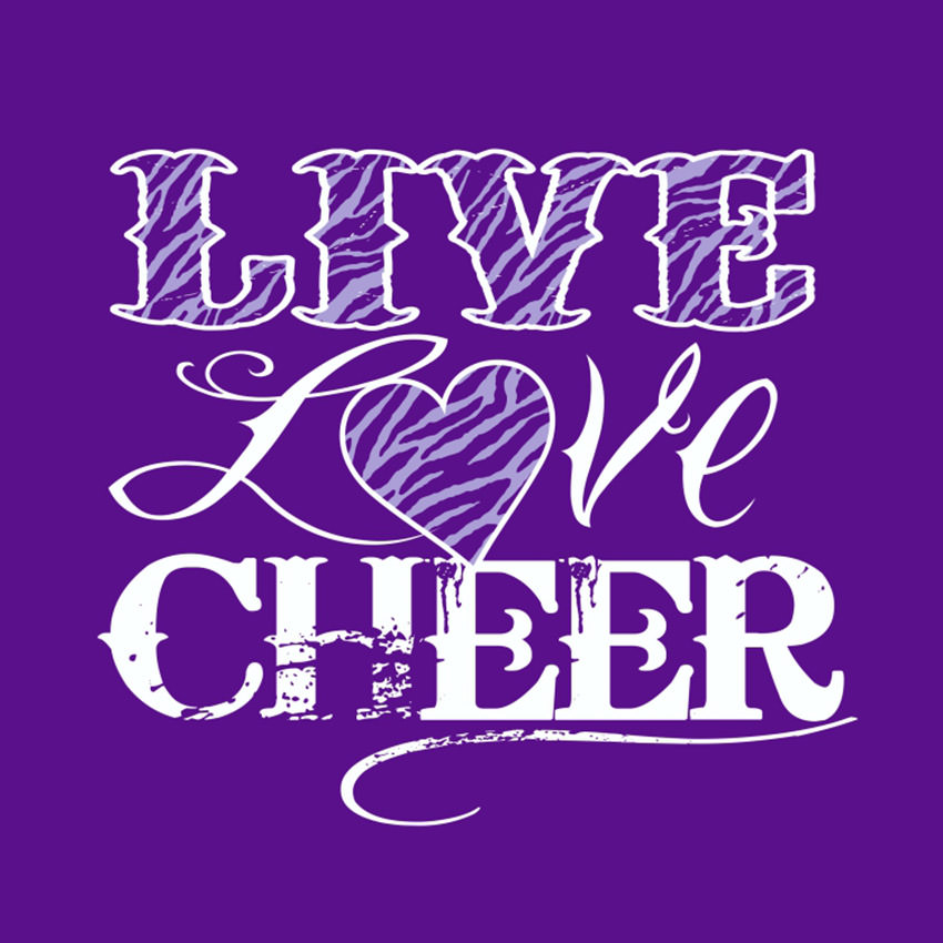 live love cheer grasel graphics