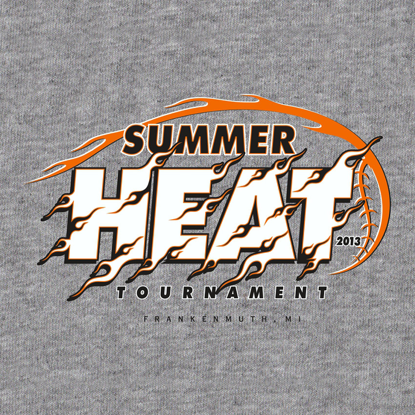 Summer heat t shirt grasel graphics for T shirt printing for non profit organizations