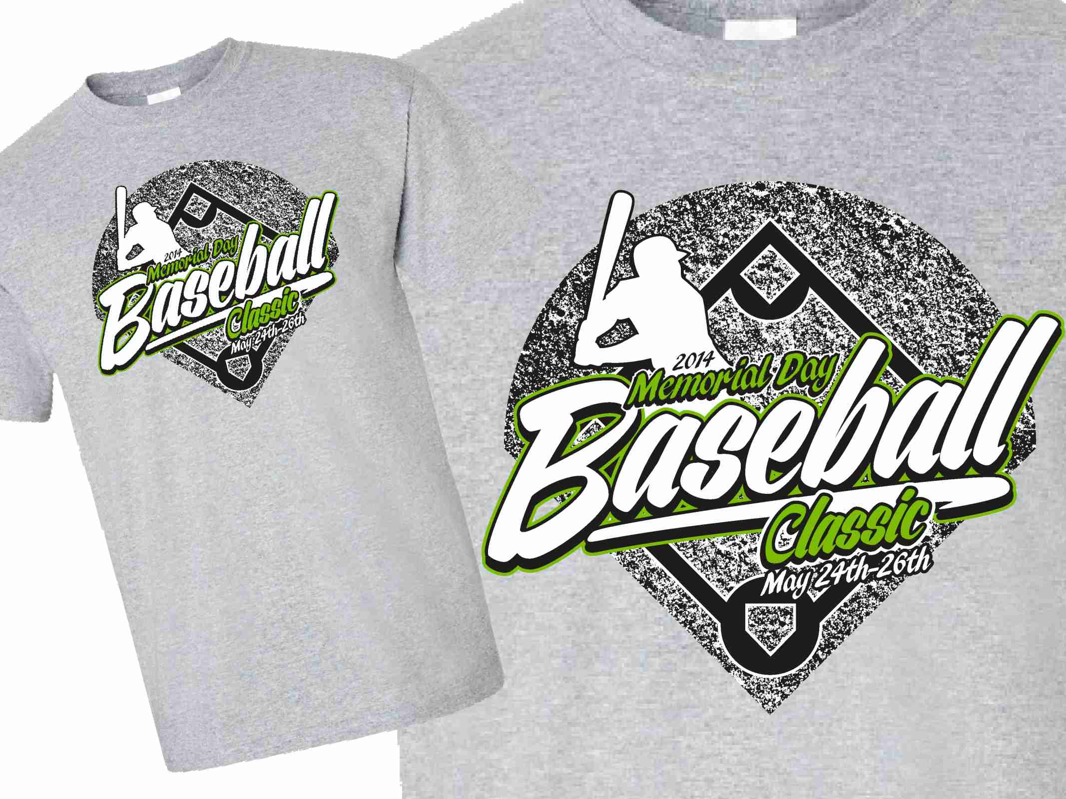 Design t shirt baseball - Memorial Day Baseball Classic