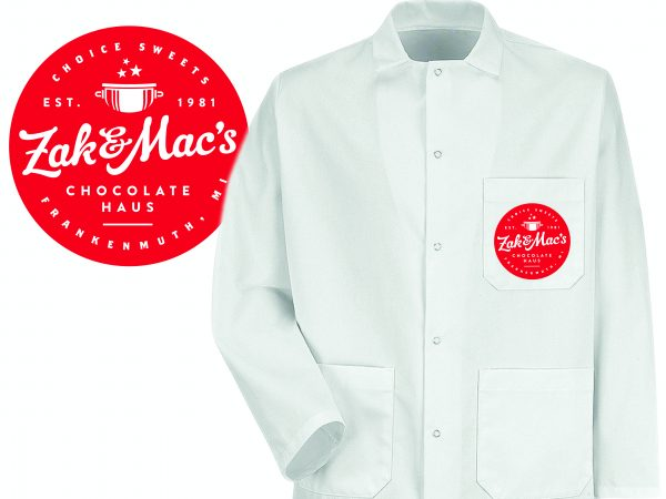 Zak & Mac's Chocolate Haus Chef Coats