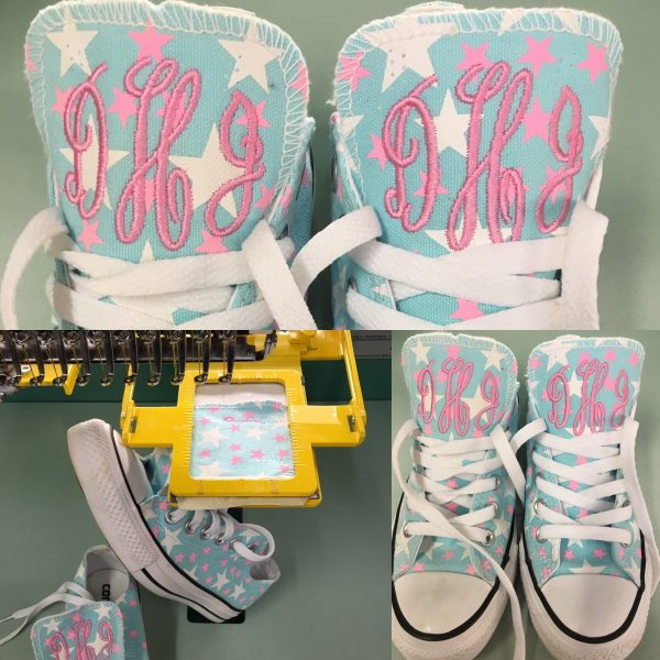 Embroidered Personalized Monogram on Converse Shoes