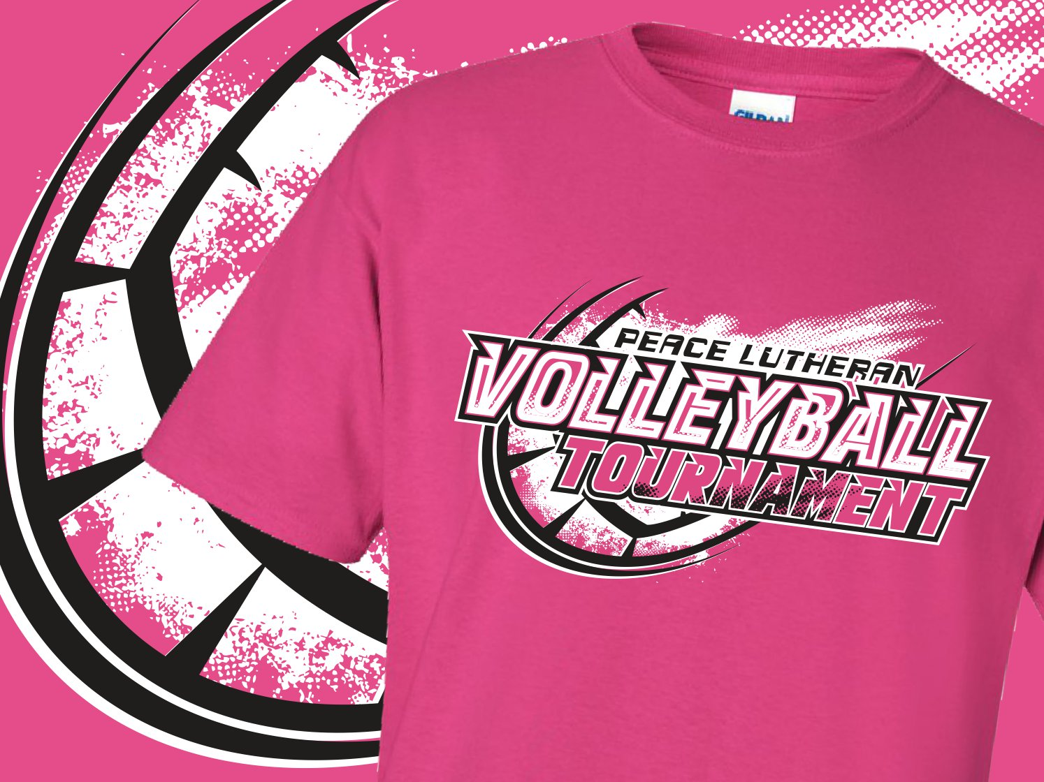 63e9d807cfb Peace Lutheran Volleyball Tournament T-Shirts