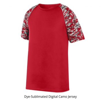 Digital Camo Baseball Jersey