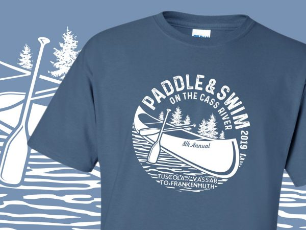 Cass River Paddle & Swim 2019 Event T-Shirts