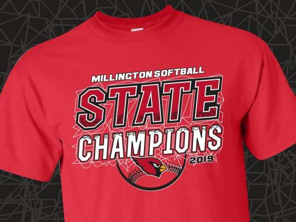 Millington Softball State Champions 2019 T-Shirts