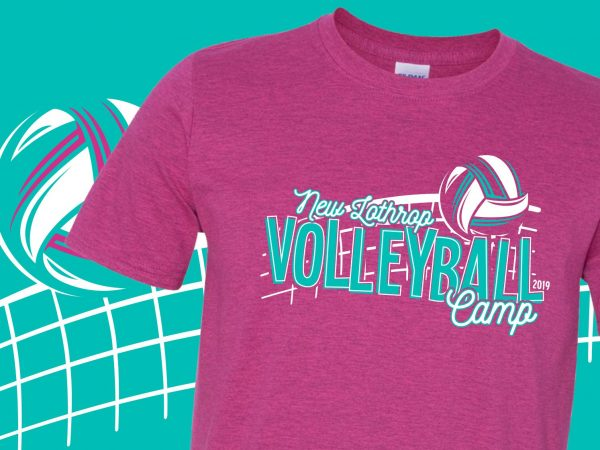 New Lothrop Volleyball Camp T-Shirts