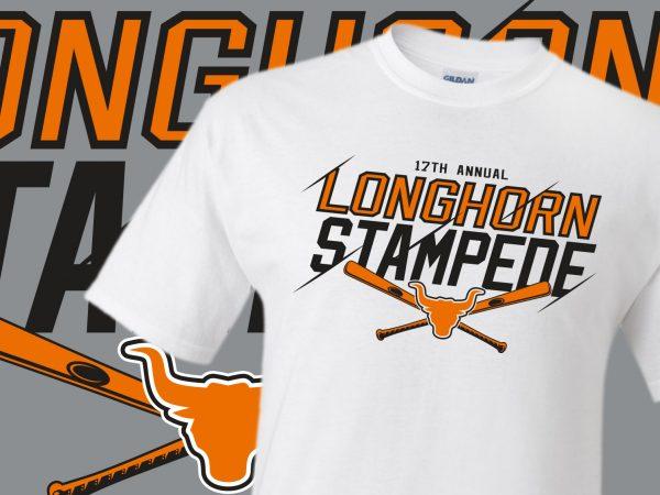 Longhorn Stampede Baseball Tournament Custom T-Shirts